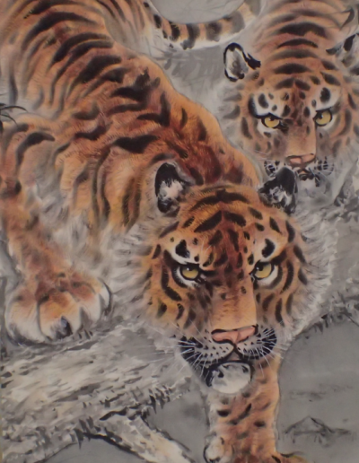 two tiger scroll